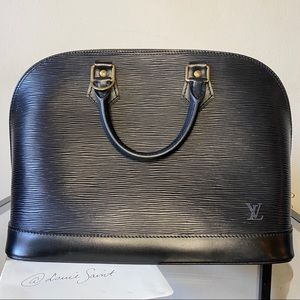 Louis Vuitton Alma Noir Black Epi Leather Satchel